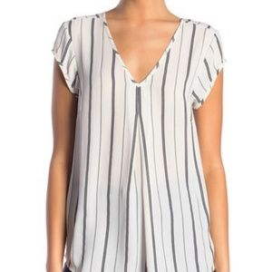 Halogen Double V-Neck Top